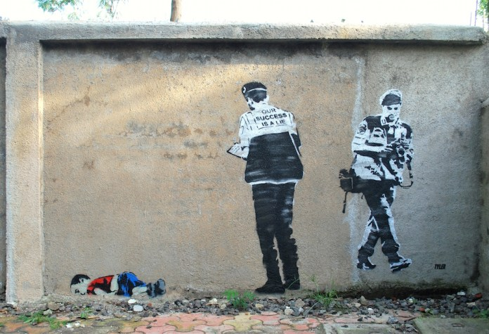 Street Art by Tyler – Our success is a lie