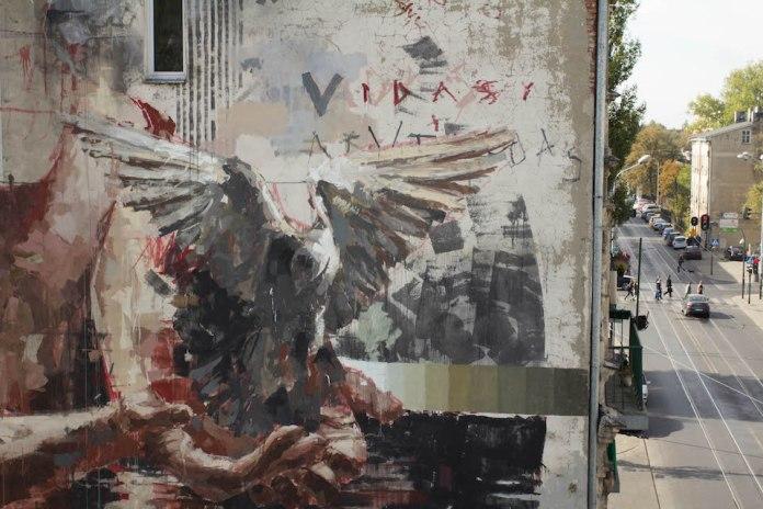 Mural by Borondo in Lodz, Poland 3