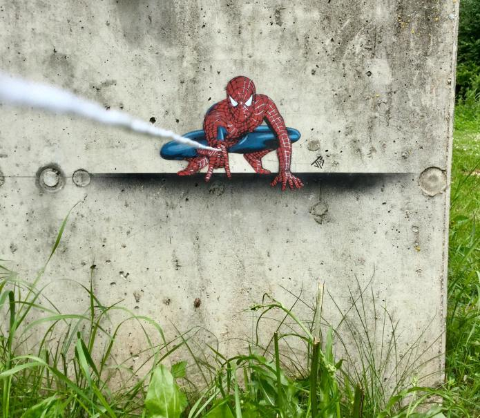 Street Art by JPS in Lower Franconia in Germany