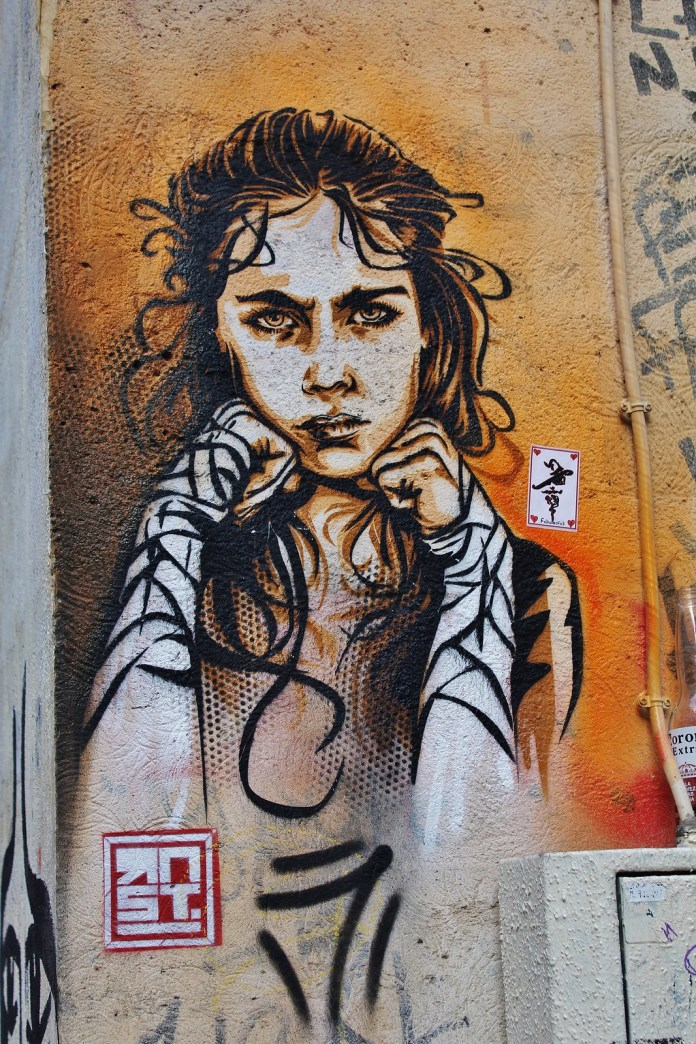 Street Art by Street Artist RNST in Paris, France