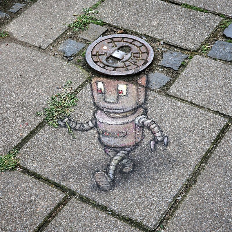 """Robert likes to impress his dates"" (3 photos) - Street Art Utopia"