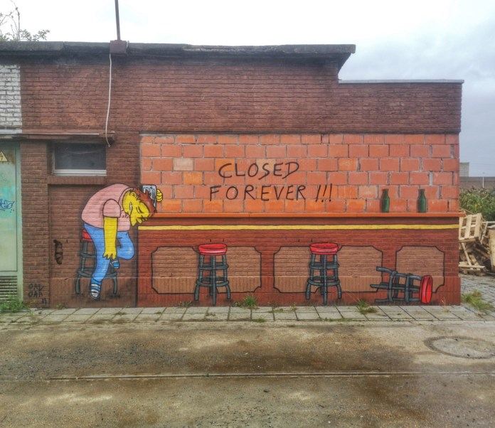 Closed forever - Street Art by Oakoak in at Estival in Gent, Belgium