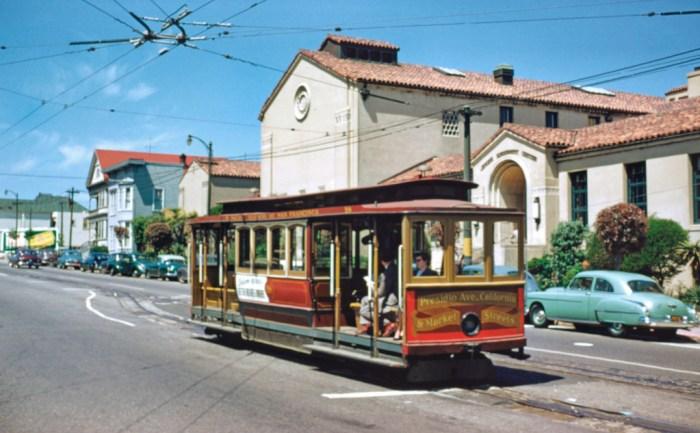 The old California line terminal at Presidio Avenue. Walt Vielbaum photo.