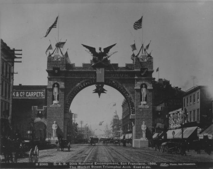 GAR Arch on Market 1886