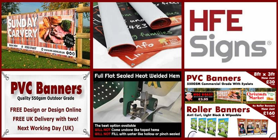 FREE Design, FREE UK Delivery, Higher Quality and Faster Speed - Now with lower prices at HFE SIGNS