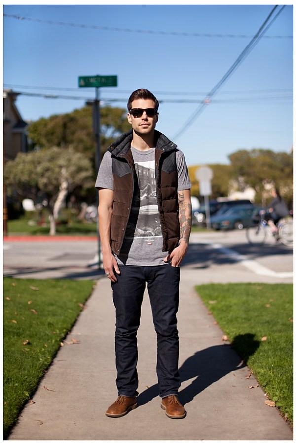 Ryan Redondo Beach street style portrait