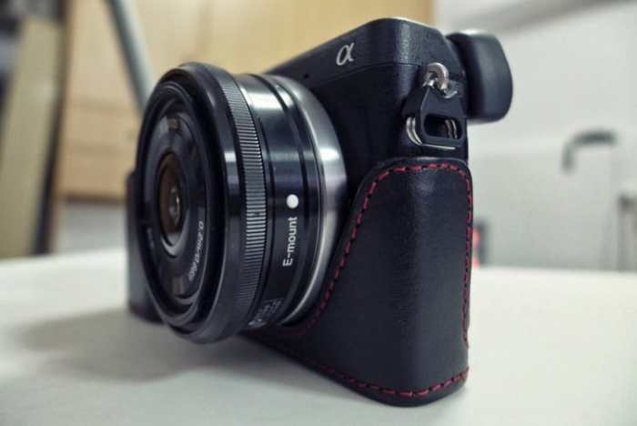 Sony nex6 with a wide angle lens sideways