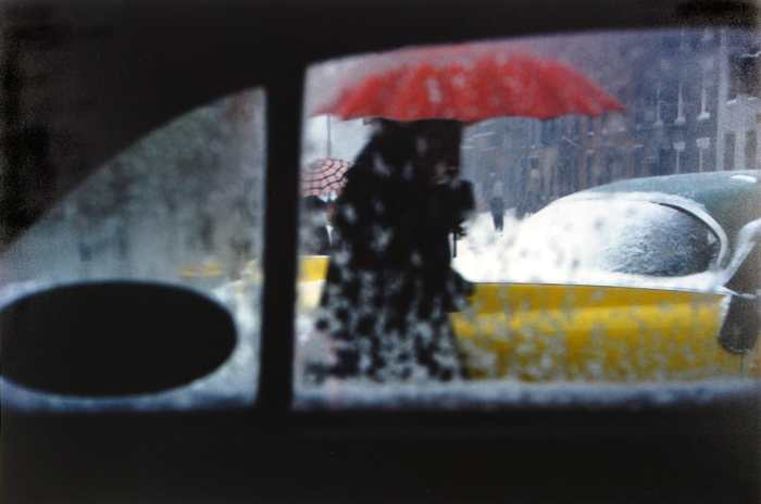 """Red Umbrella"" by Saul Leiter"
