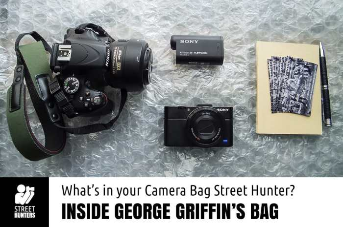 Inside George Griffin's Camera Bag promo