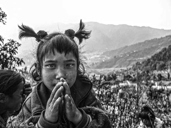 Namaste, the popular way of greeting strangers in the Himalayas