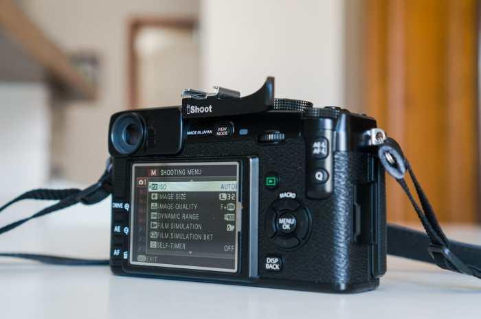 Fujifilm X-Pro1 menus