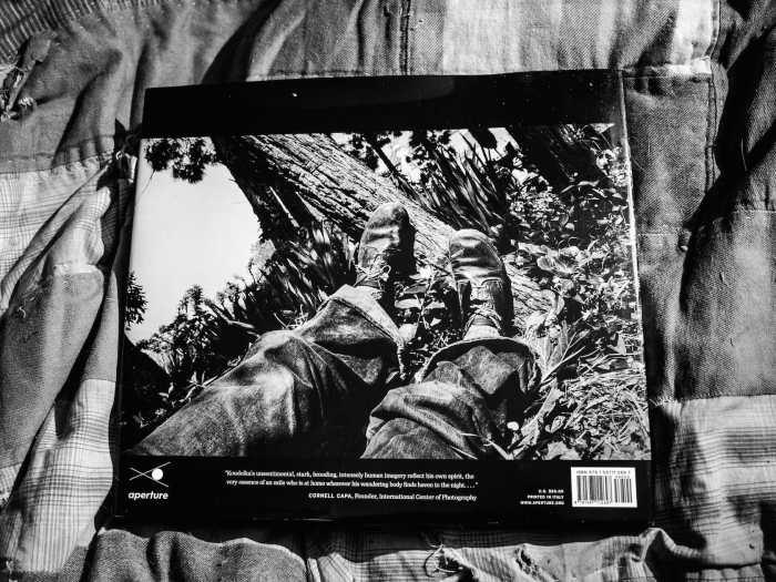 Backcover of Joseph Koudelka's Exiles