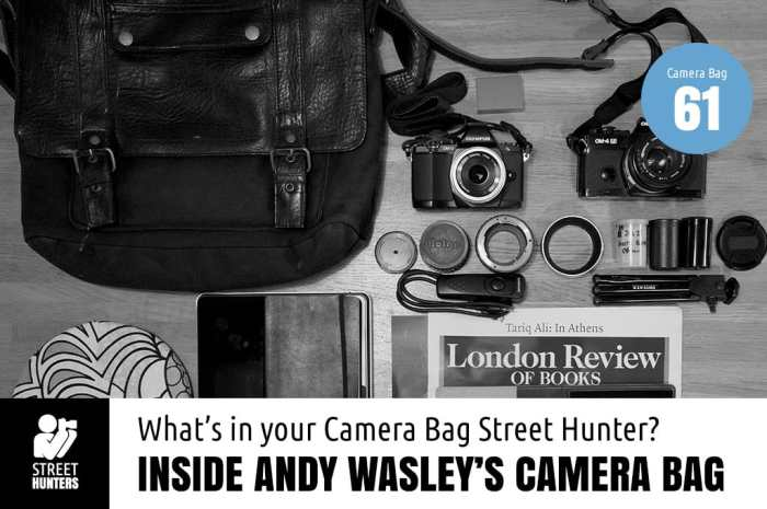 Inside Andy Wasley's Camera Bag