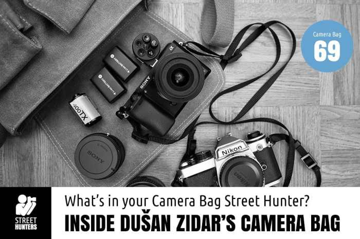 Dusan Zidar's Camera Bag