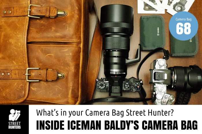 Inside Iceman Baldy's Camera Bag