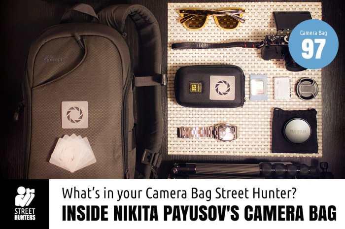 Inside Nikita Payusov's Camera Bag