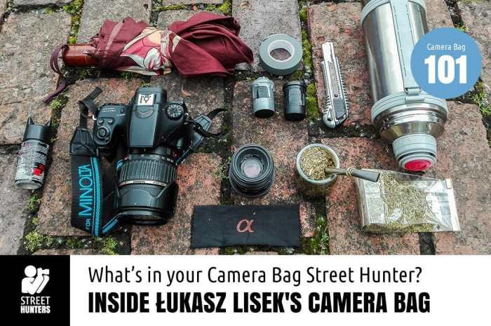 Inside Lukasz Lisek's Camera Bag