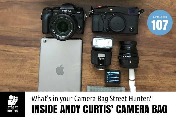 Inside Andy Curtis' Camera Bag