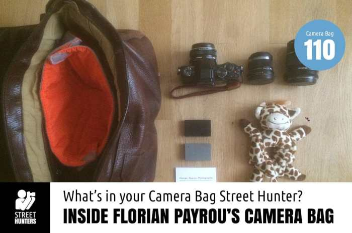 Inside Florian Payrou's Camera Bag