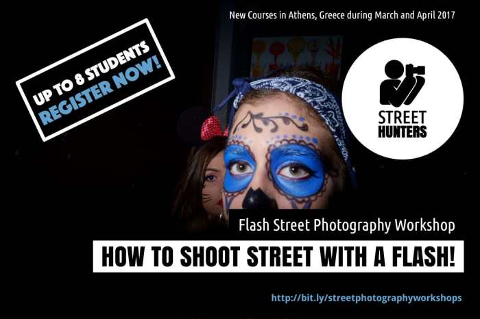 Flash Street Photography Workshops in Athens