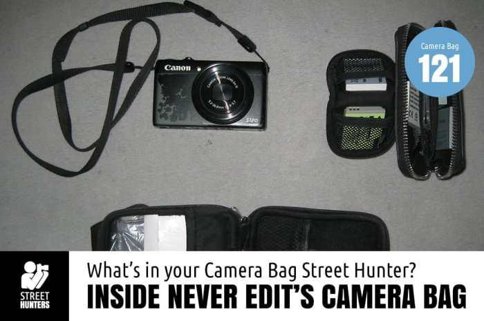 Inside Never Edit's Camera Bag