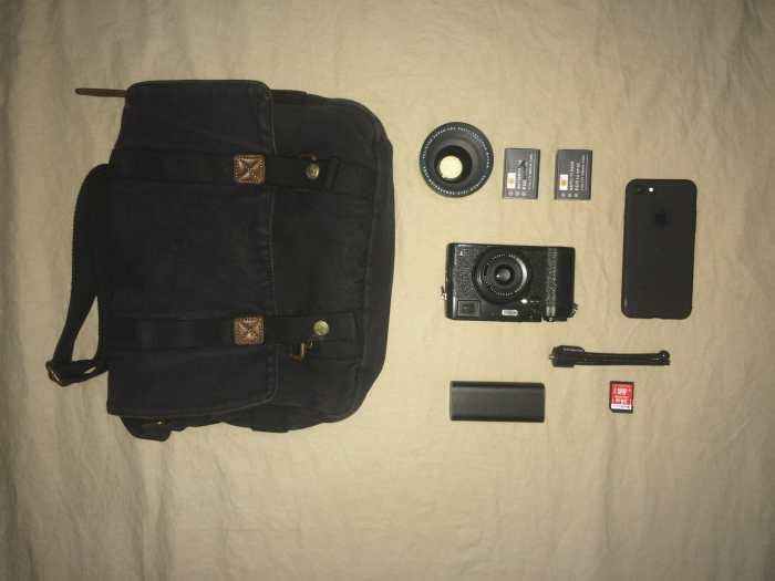 Les de Wit's camera bag