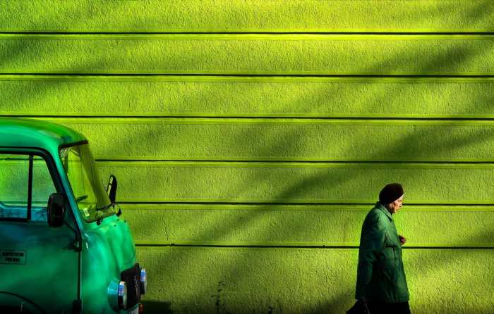 """The Colour Green"" street photograph by Zlatko Vickovic"