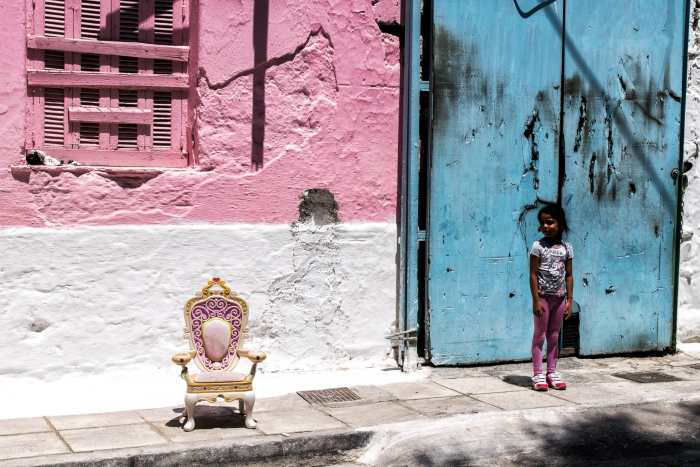 """The Colour Pink"" street photograph by Antonis Giakoumakis"