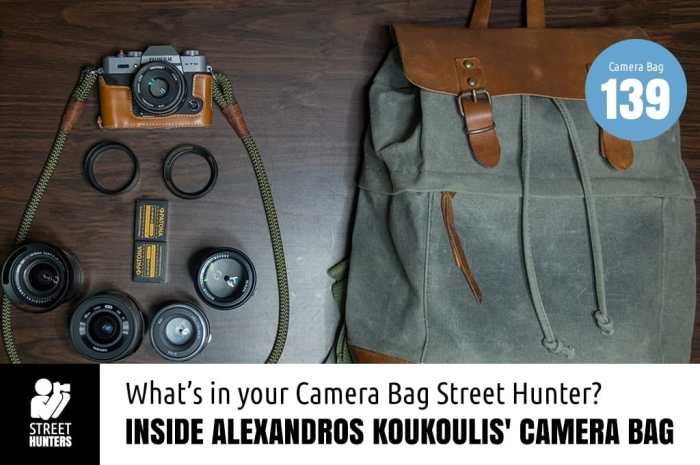 Inside Alexandros Koukoulis Camera Bag