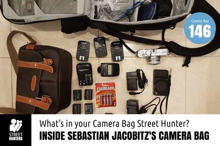 Inside Sebastian Jacobitz's Camera Bag