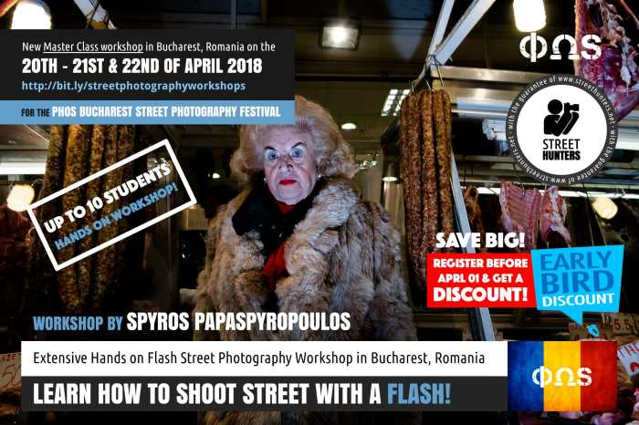 Bucharest Flash Street Photography Workshop by Spyros Papaspyropoulos