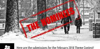 "February 2018 monthly theme contest ""Snowy Day"" nominees"