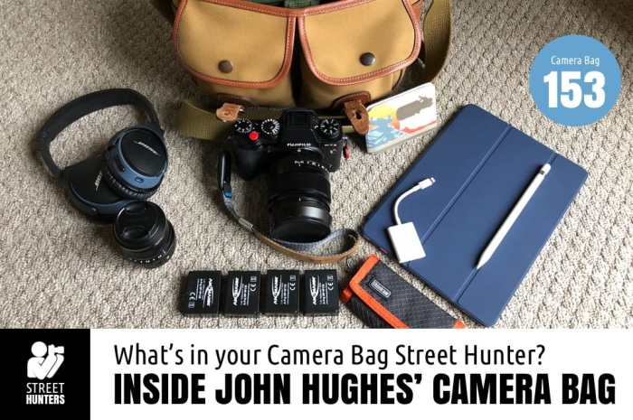 Inside John Hughes' camera bag