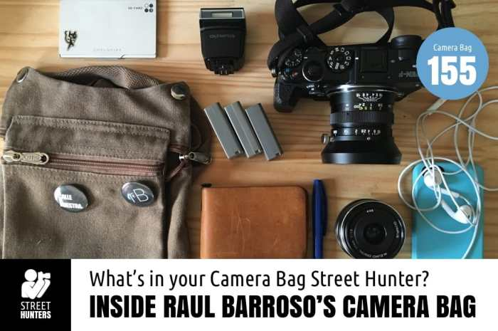 Inside Raul Barroso's Camera Bag