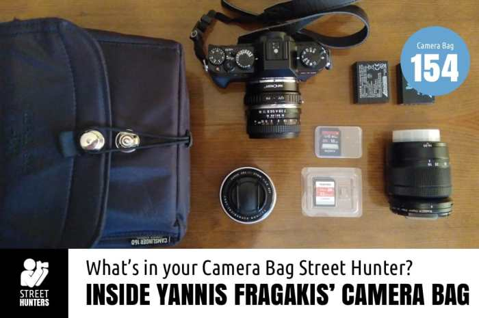 Inside Yannis Fragakis' Camera Bag