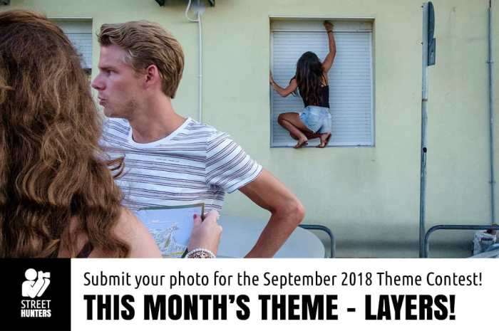 September street photography contest - Layers -