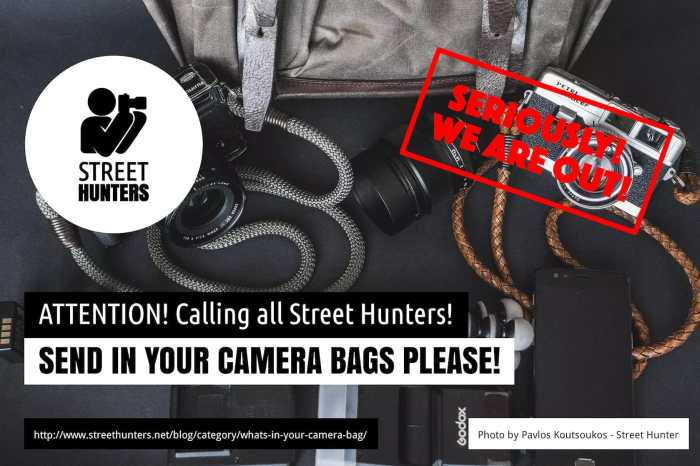 Send in more camera bags to streethunters.net