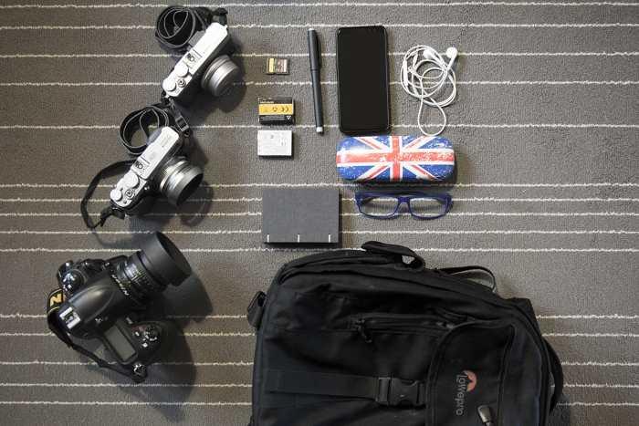 Inside Fanis Logothetis Camera Bag - Bag No. 172