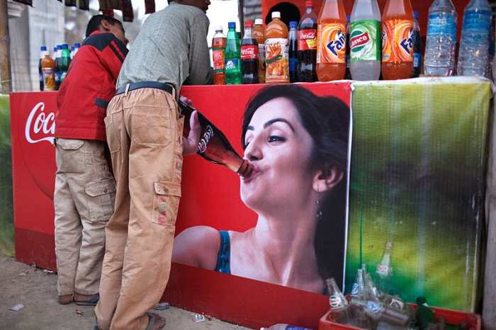 Drink stand at Sonepur Mela in India.