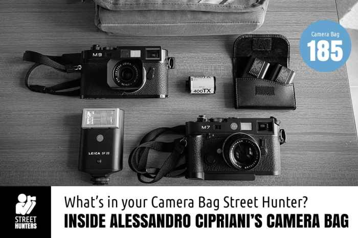 Alessandro Cipriani's camera bag - Bag No.185
