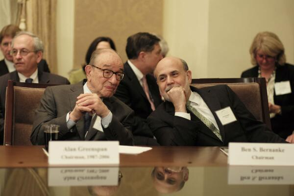 Image result for greenspan and bernanke