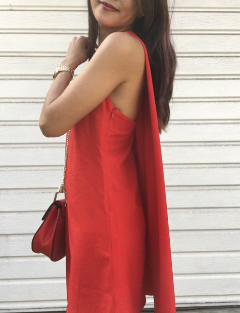 forever 21 red cape dress