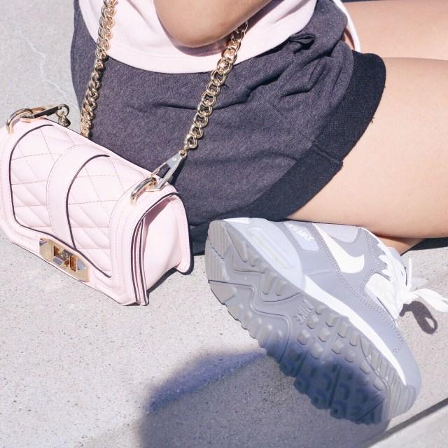 minkoff love bag and nike shoe