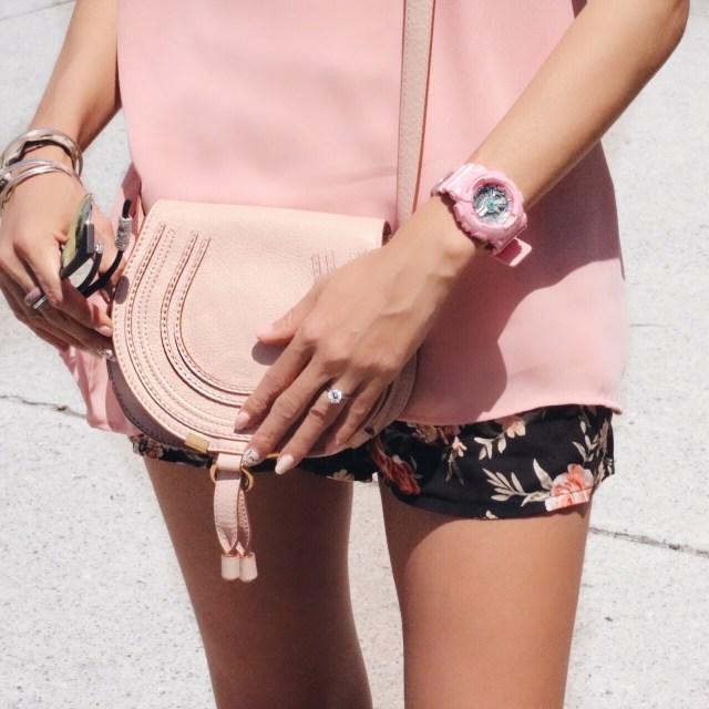 chloe marcie bag pink