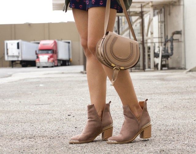 chloe marcie bag and side-split boots