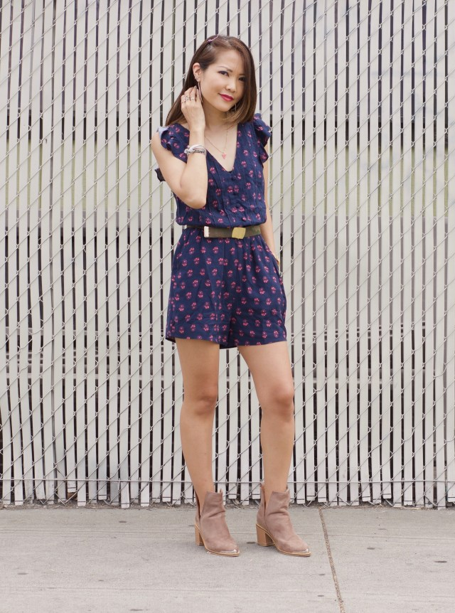 navy floral romper modcloth