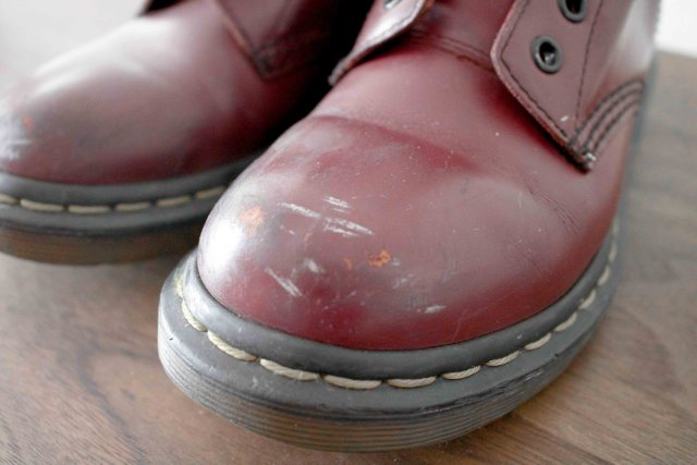 cherry red doc martens