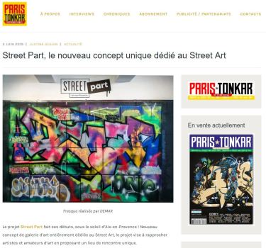 STREET ART sur PARIS TONKAR