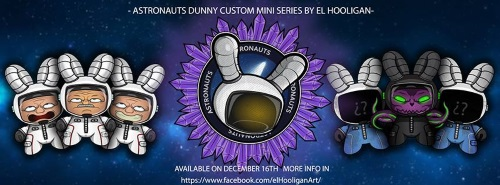 El Hooligan custom Dunny series ASTRONAUT