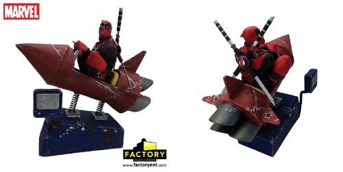 Deadpool Rocket Ride Marvel Premium Motion Statue by Factory Entertainment 1